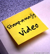 Stamp-a-ma-jig  video post it note