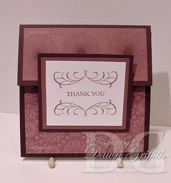 Thank you envelope card
