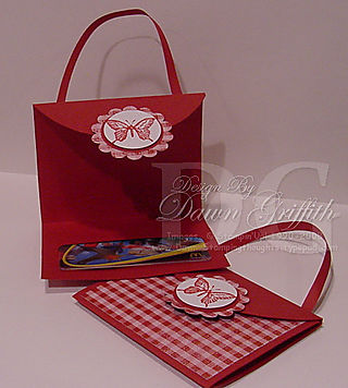 5 in 1 envelope purse opened