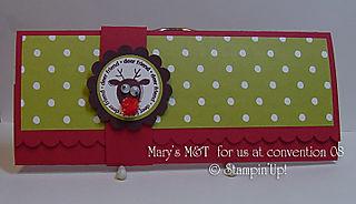Marys M&T money card
