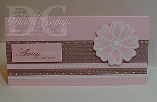 Love stories SS kit card Pretty in pink