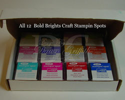 Stampin spots with all 12 colors in box