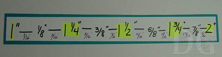 Measuement Chart Dawn Griffith