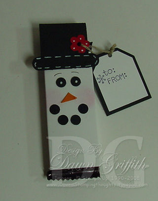 Snowman mini candy bar wrapper #1