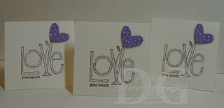 Love you much Mini note cards