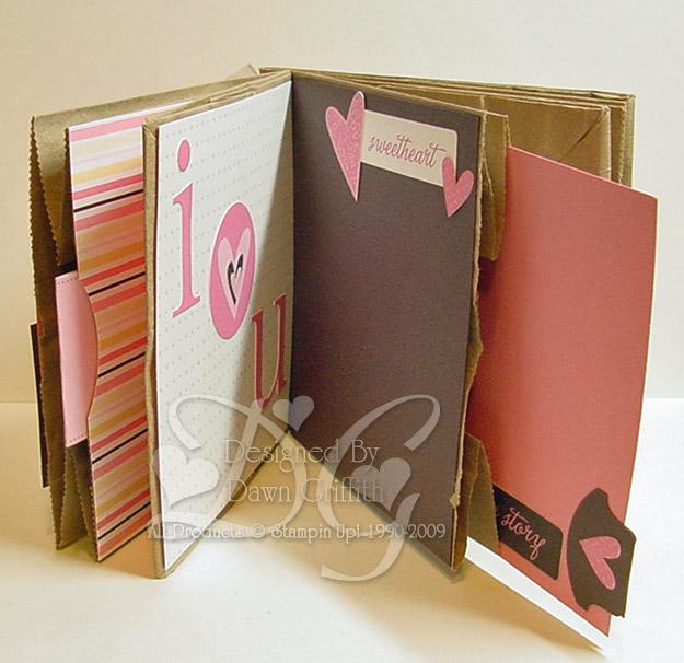 Paper bag  scrapbook opened #3
