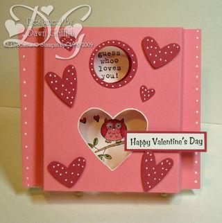 Valentines day Shadow box card ~ Dawn Griffith