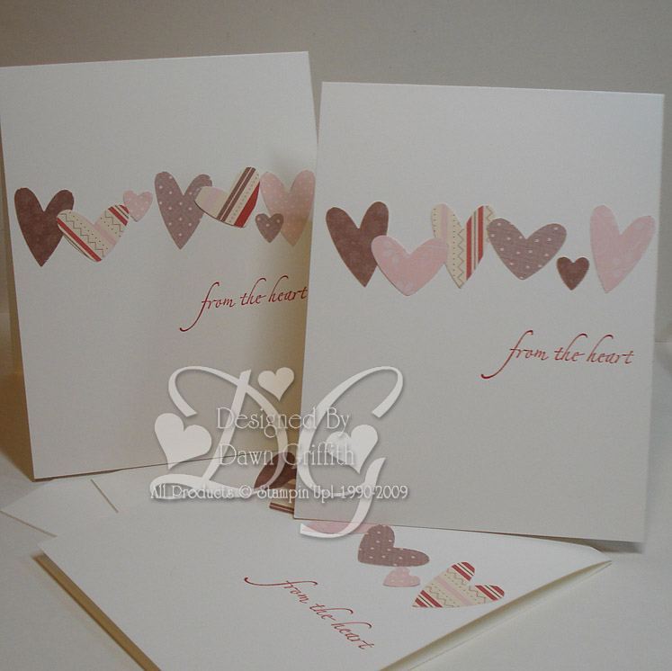From the heart  Hostess cards