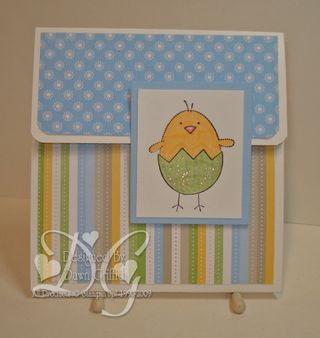 Easter Gift card holder closed Dawn griffith