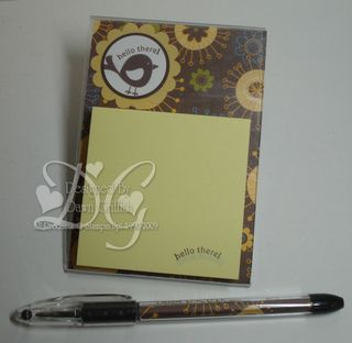Chocolate side post it note holder