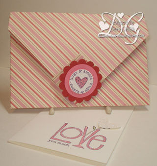 Designer paper envelope with card