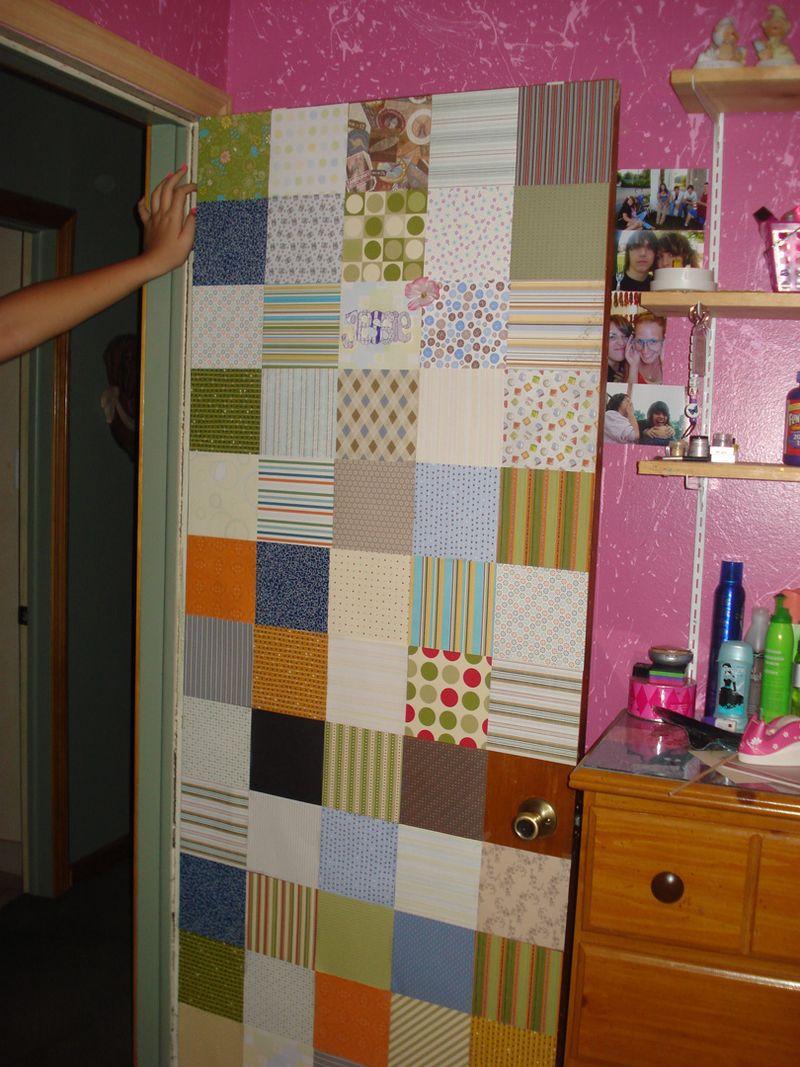 Jessie's designer paper  bedroom  door