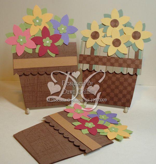 dawns stamping studio flower pot card video