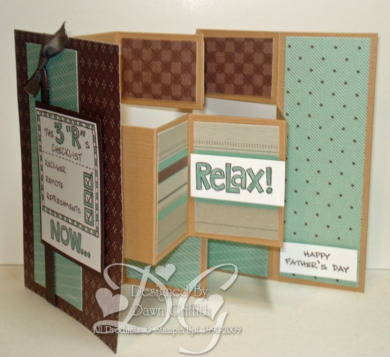 Fathers Day Multi Panel card  Inside
