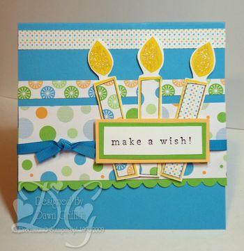 Make a wish Pop up birthday cake Dawn Griffith
