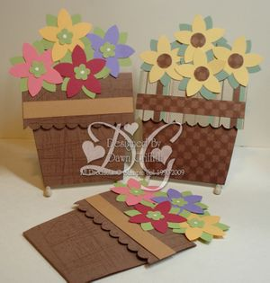 Flower pot cards