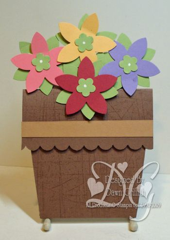 Flower pot card #1 & Dawns Stamping Studio: Flower Pot Card Video