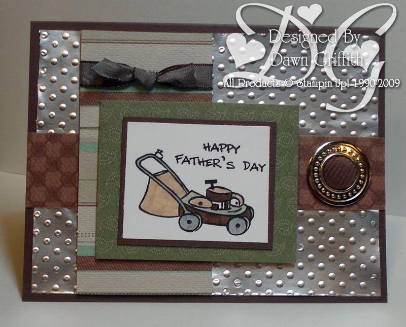 Aluminum Foil Fathers day card