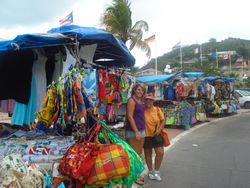 Shopping at Marigot market
