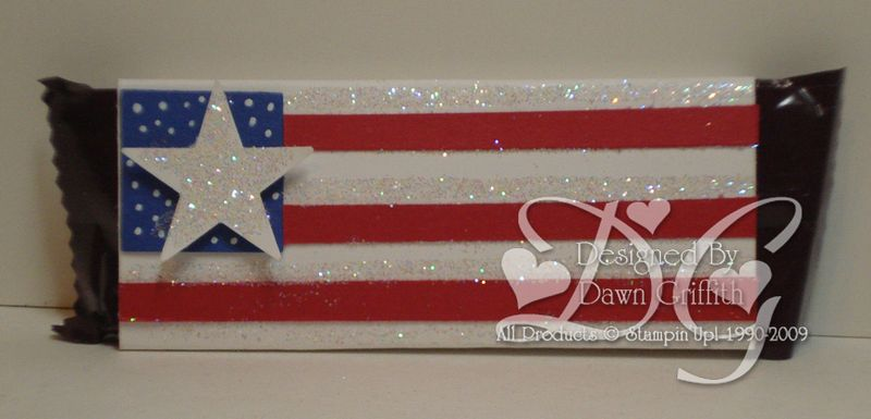 4th of July Mini candy bar wrapper