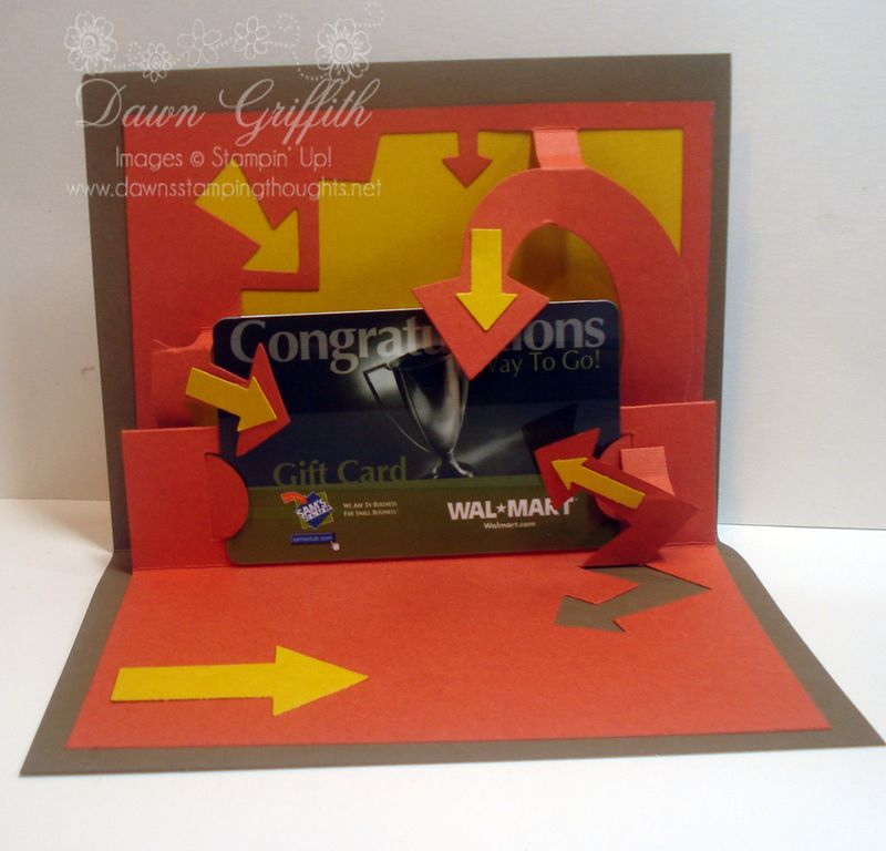 Gift card  holder  in side Look HERE