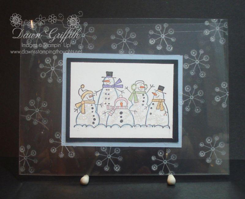 Window sheet Christmas card