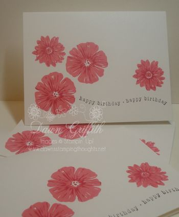 2 step stamping with Greenhouse Garden Cards