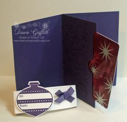 Gift card holder Ornaments Opened
