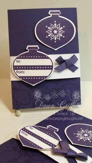 Gift card holder Ornaments