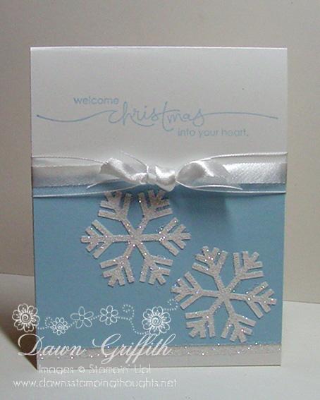 Simple snowflake Christmas card