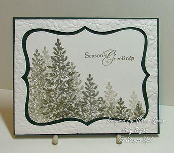 Glitter queens Christmas swap Judy Boggs