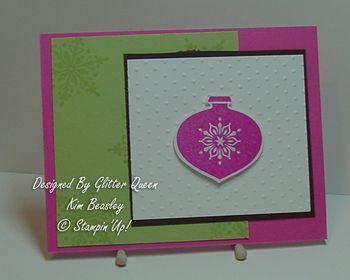 Glitter queens Christmas swap Kim Beasley