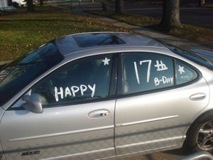 Happy Birthday on Car