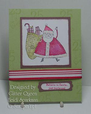 Glitter queens Christmas swap Heidi Sparkman