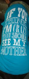 Saying on Bowzers t shirt