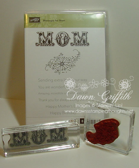 Clear mount stamp set Messages  for Mom
