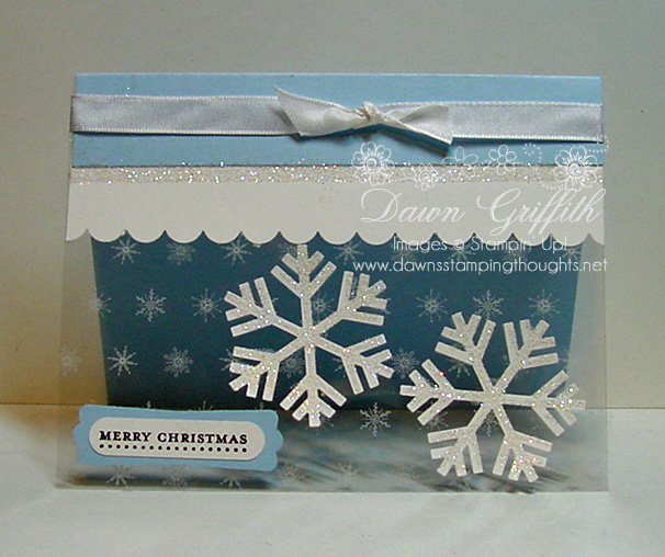 Snowfall window sheet  Christmas card