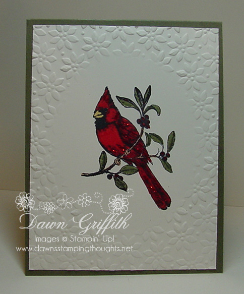 Embossed  Christmas  Cardinal
