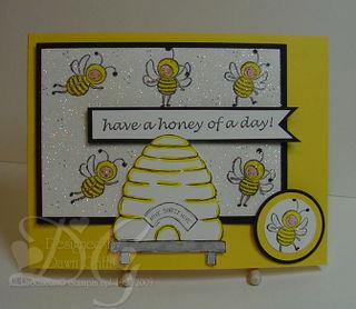 Iridescent Ice card Bees