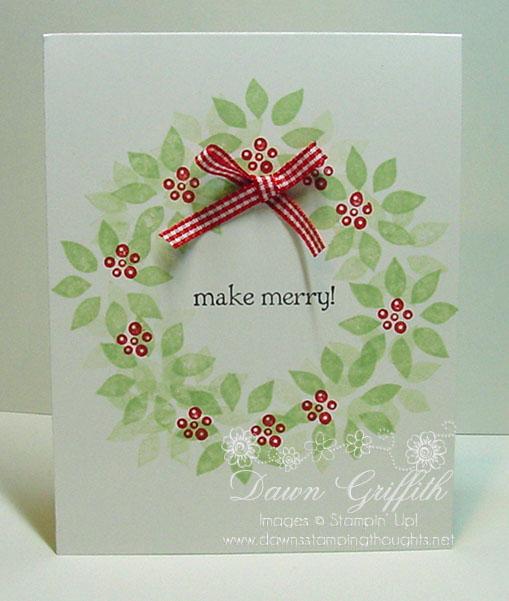 Berry Christmas wreath Dawn Griffith