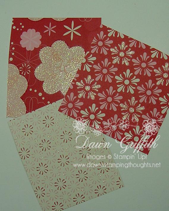 Sending love  designer paper # 117153