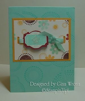 Gina Wrona Birthday card