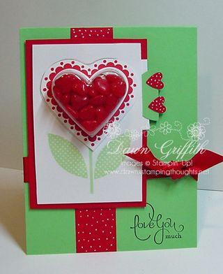 Heart treat cups card