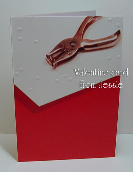 Jessie 2010  Valentine card  to me