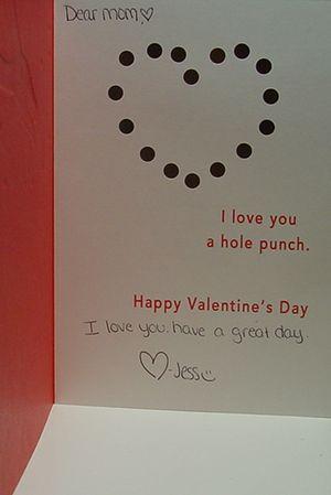 Jessie's Valentine inside
