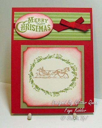 Glitter queens Christmas swap Faye Kahler