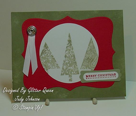 Glitter  queens Christmas  swap Judy Johnson
