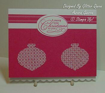 Glitter queens Christmas swap Aurora Guerra