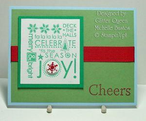 Glitter queens Christmas swap Michelle Bustos