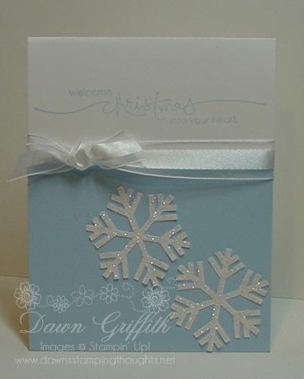 Welcome Christmas  snowflake  card